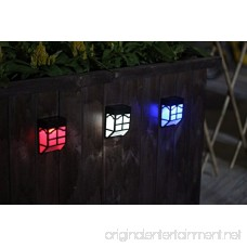 Bear Motion (TM) Solar Powered Color LED Light for Garden Fence Walkways Stairways Path Pathway Lights - 6 Packs - B07CG3P5V1