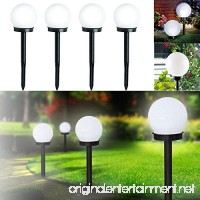 DAVEVY LED Solar Lamp Ball Shape Garden Light Globe Stake Plastic Material Multifunctional Column Lampost Lawn Garden Yard Landscape Lighting (White Light) - B07FCW38CJ