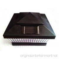 Plastic Black 6 x 6 Outdoor 5 LED 78Lumens Solar Post Cap Light Designed to fit on 6x6 Hollow Vinyl/PVC/Plastic or Solid Wood/Composite Posts - B01E0MWUWE