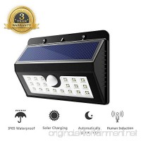 Solar Wall Light Outdoor Wireless Security Light Solar Motion Sensor Light Detector Super Bright Waterproof for Garden Back Door Step Stair Fence Deck Yard Driveway 20 LED - B0716D6B26