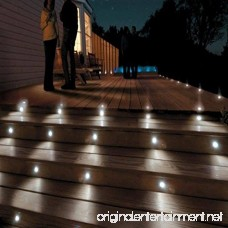 Sumaote Low Voltage LED Deck Light Kit Φ1.85 Waterproof Recessed Deck Lamp LED In-ground Lights for Step Stairs Outdoor Garden Yard Patio Landscape Decor Cool White Pack of 10 - B0772LWWZK
