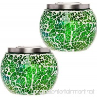 2 Pack Mosaic Solar Light - Decorative LED Outdoor Garden Table Ball Light by GreenLighting (Green) - B07B9LYXQD