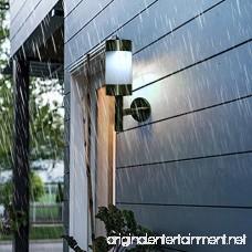 2Pcs Stainless Steel LED Solar Light Outdoor Wall Mounted Solar Power Light Lamp for Landscape Garden Yard Sensor Lamp Home Fence Decoration - B07D7SHW61