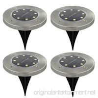 4-Pack Solar Ground Lights outdoor 8 LED floor inground disc lighting bright circular disc - B07F2PQ9JN