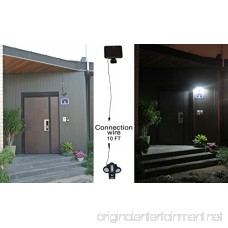 GREEN FACTORY 2017 New Solar Security Motion Sensor Lights 18SMD LED Outdoor Weatherproof Wall Lights With 5 Modes By Finger Touch Control For Rooftop Deck Terrace Main Entrance Garage - B075R6CKZ1