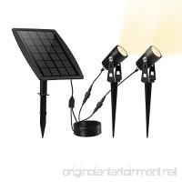 KEYNICE Solar Spotlights Waterproof IP65 Solar Powered Spotlight for Outdoor/Garden/Courtyard/Lawn(Warm White) - B01N5MIQWJ