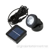 LAFEINA Solar Powered LED Spotlight  Underwater Light  Landscape Waterproof Lamp for Outdoor Garden Pool Pond Decoration - B011U5355A