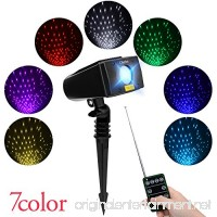 Laser Christmas Lights 7 In 1 Colour Outdoor Star Projector With RF Remote Control Landscape Spotlight for Christmas Holiday Parties and Garden Xmas Decoration By Cheriee - B0768C644Y