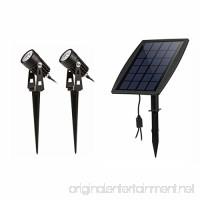 LED Landscape Solar Spot lights Waterproof Outdoor Solar Spotlight for Backyard Driveway Patio Gardens Lawn Dusk to Dawn Auto On Off (6000K-Daylight) - B07784JXKP
