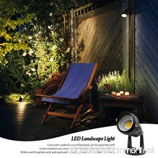 LightingWill 5W LED Landscape Lights Warm White 3000K-3500K Waterproof 12V COB LED Outdoor Wall Spotlight Low Voltage Garden Tree Spot Lighting with Spike Stand for Lawn Yard Pathways Fence (4 Pack) - B07BZL4FYL