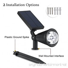 MEIO Outdoor Solar Spotlight Multi-Colored 7 LED Adjustable Landscape Lighting Waterproof Wall Light Solar Lights Outdoor with Auto On/Off for Garden Decorations (1 Pack) - B073TZ1KVQ