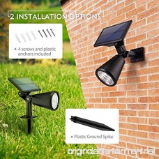 Mpow Upgraded Solar Lights 2-in-1 Adjustable Waterproof Solar spotlight Outdoor Landscape/Wall Lighting Auto On/Off Security Lights for Pathway Garden Lawn Yard Pool Driveway (4 Pack) - B074Y3MYKP