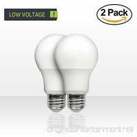 SCS Lighting Low Voltage 12v DC 60 Watt Equivalent LED LIght Bulbs. 7watt LED / 500 Lumen. E26 E27 Base. Warm White Color. Perfect for RV Camper Off Grid Solar Boat Light 2Pack - B078XPV2SJ