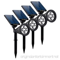 Solar Spot Lights Outdoor  Waterproof 2-in-1 Outside Solar Powered Spotlight Led Lighting Auto On/Off for Pathway  Walkway  Patio  Yard  Garden and Landscape 4-Pack - B07531NDQ1