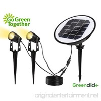 Solar Spotlights  GreenClick Waterproof IP65 Solar Powered Wall/Landscape Lights with Auto On/Off Sensor for Outdoor Patio Deck Yard Garden Driveway Pathway Pool (Warm White) - B075T3RJ4D
