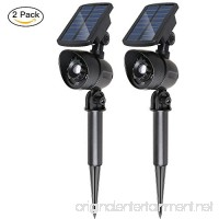 Sunba Youth Solar Spotlights Upgraded 2-in-1 Motion PIR Sensor Solar Lights Outdoor Waterproof Adjustable Wall Light Landscape Light Auto On/Off for Patio Deck Yard Garden Pool Area(2 Pack) - B079L3YPZW