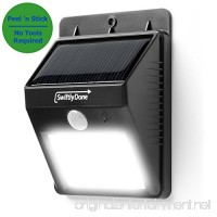 Swiftly Done Bright Solar Power Outdoor LED Light No Tools Required Peel and Stick Motion Activated - B00EGFKOZ6