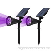 T-SUN [2 PACK] LED Solar Spotlights  Waterproof Outdoor Security Landscape Lamps  Auto-on/Auto-off By Day  180 angle Adjustable for Tree  Patio  Yard  Garden  Driveway  Stairs  Pool Area(Purple) - B077Z5YTH3