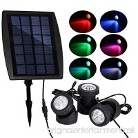 T-SUN Solar Pond Lights  Solar Powered RGB LED Spotlights Outdoor Security Light Solar Fish Tank Light  Adjustable Lighting Angle for Garden Fountain  pond  Pool Decoration Underwater LED Lights - B074SFCFRM