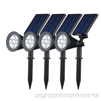 VicTsing 4pcs Solar Spotlight 2-in-1 LED Wall / Landscape Solar lights  180 Degree Adjustable Waterproof Outdoor Landscape Lights for Tree  Driveway  Yard  Lawn  Pathway  Garden - B018G7DP4Q