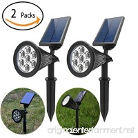 WYBAN 2-in-1 Solar Lights Coolwhite  7-LEDs Solar Spotlight Waterproof Auto On/Off Outdoor 180 °Adjustable Landscape Security Wall Light for Garden Backyard Pool Lighting (2 Pack) - B07D1BQPNR