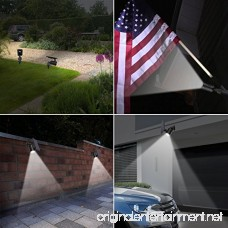 AMIR Solar Spotlight Upgraded Motion Sensor Lights Outdoor 800 lumens 8 LED Landscape Lighting with 4 Modes Waterproof Solar Security Lights for Garage Porch Patio Garden Driveway Pathway (2 Pack) - B0742YMGB9