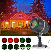 ANTSIR Christmas decoration Red & Green Star show Dynamic Lighting Projector Light Waterproof Star Projector Show for Home Garden Party and Landscape - B01M6WREDD