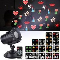 Christmas Projector Lights Mtlee 16 Pieces Switchable Patterns and Remote Control Waterproof Moving Rotating Projector Led Spotlight for Wall Decoration Birthday Party Wedding Xmas Decor - B07543KMW5