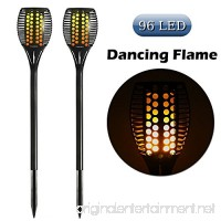 Cinoton Solar Light Path Torches Dancing Flame Lighting 96 LED Dusk to Dawn Flickering Torches Outdoor Waterproof garden decorations (2) - B01N429VAW