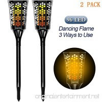 CINOTON Solar Tiki Torches Upgraded solar flame torch lights outdoor Landscape Decoration Lighting Dusk to Dawn Security Warm Light for Garden Patio Deck Yard Driveway (2 PACK) - B07CYL7LCR