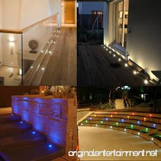Color Changing Led Deck Lights Outdoor IP67 Waterproof Low Voltage Stainless Steel Recessed in-Ground Patio Deck Step Lighting Kits for Landscape Garden Driveway with Remote Control Pack of 20 (RGB) - B076J35GN3
