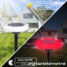 findyouled Solar Ground Lights 10 LED Solar Garden Light Waterproof Color Changing Landscape Path Lights for Outdoor Decoration Patio Backyard (2 pack) - B07BP73LD3