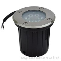 LEDwholesalers Low Voltage In-Ground LED Well Light with Brushed Stainless Steel Trim 3-Watt  3731 - B001PEPROO