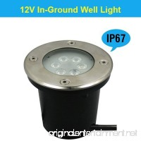 Makergroup 12V Low Voltage Outdoor Lighting 7W Landscape In-Ground Well Lights IP67 Waterproof LED Light Fixture for landscape lighting  garden lighting yard lighting (Warm White) - B075928C23