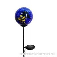 Moonrays 92563 Solar Powered White LED Swirled Glass Gazing Ball Stake Light Multipack - B01NAPW6KI