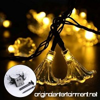Outdoor String Lights - Teepao Morning Glory Waterproof Solar Fairy Flower Outdoor  Garden  Family  Wedding  Christmas Party and Holiday Decorations(4.8m 4 Colors) - B07DCVWQ3Z