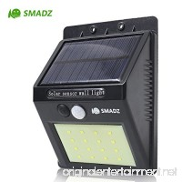 SMADZ SL11 Solar Motion Light 16 LEDs Auto On/Off Security Wireless for Outdoor Garden Wall Fence StepDriveway Stairs Gutter Yard Patio Pool (White light  1-Pack) - B01D4EJQQC