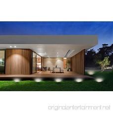 Solar Ground Garden Lights Outdoor - 4 LED Waterproof Landscape Lawn Pathway lights for Garden Driveway Walkway Yard Garage Patio White - B075SVRWYB