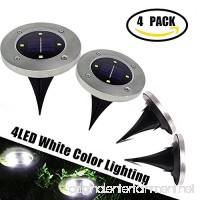 Solar Ground Garden Lights Outdoor - 4 LED Waterproof Landscape Lawn Pathway lights for Garden Driveway Walkway Yard Garage Patio White - B075SVRWYB