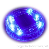 Solar Pond Pool Light Water Floating Decor Light  Ground Buried Light for Park Square Yard Patio Path Decor(6 LED Blue Color 1PACK) - B07DLJLXTV