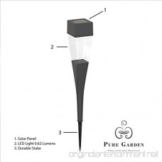 Solar Powered Lights (Set of 24)- LED Outdoor Stake Spotlight Fixture for Gardens Pathways and Patios by Pure Garden - B00WQQA5YM