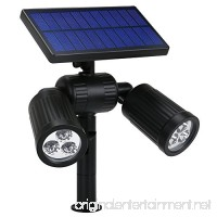 Solar Spotlight  GoerTek 2-in-1 Waterproof Outdoor Landscape Lighting 6 LED Adjustable Spotlight Wall/In-ground Solar Lights Bright and Dark Sensing Auto On/Off for Yard Driveway  Lawn  Pathway Pool - B0772T9LQM
