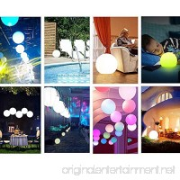 Tker Solar Light Ball Waterproof Floating 16RGB Solar Power Light 5-inch LED Color-Changing with Remote Control Great for Night Light Party Pool Patio Ambient & Decorative Lighting - B073QLSVNT