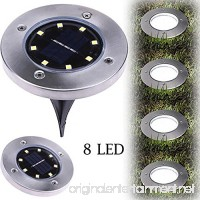 Vanvler Outdoor Ground Lamp  8 LED Solar Power Buried Light Path Way Garden Decking - B07B4FVKWV