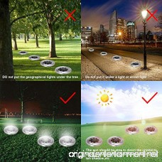 WINSAFE Solar Ground Lights with Light Sensor Waterproof Landscape Lawn Pathway lights for Garden Driveway Walkway Yard Garage Patio Garden Pathway Outdoor In-Ground Lights With 8 LED Pack of 4 - B07CWBY8KZ