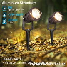 Zuckeo Landscape Lights 12v 24v led Pathway Lights with Low Voltage Transformer Warm White Outdoor Decorative Spotlights for Yard Patio Garden Trees Flags Outdoor Lighting-4 Pack - B079NLN2PW