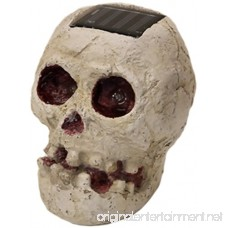 (2 Pack) SKULLar - Solar Powered Outdoor Halloween Skull Fright Lights - B00FN7VPSG