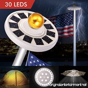 30 LED Solar Flag lights Flagpole Pole Lights Solar Powered Super Bright IP65 Waterproof Bonega 30 LED Solar Flag Pole Lights Outdoor Dusk to Dawn for Most 15Ft 16ft 20Ft 25Ft Auto On/Off Night Light - B07BQLRWKZ