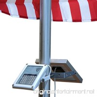 ALPHA 180X Solar Flagpole Light for Flag Pole Lighting//3-Level Power Setting for All Night Lighting - B0168WPWKQ