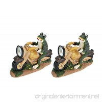 Aspen Creative 60900 Two Pack Set Frog On A Motorcycle Solar Led Accent Light Statue 10 Length - B01N7Z3PE1